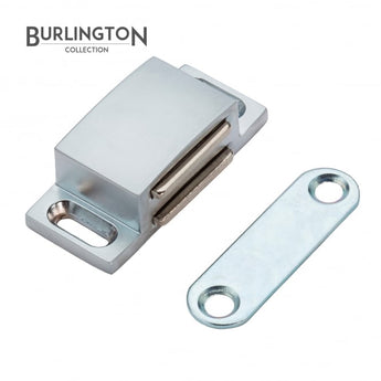 The Burlington Collection 45mm Satin Chrome Magnetic Catch Product </br>Code: F06-801 - Woodliving