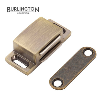 The Burlington Collection 45mm Ant Brass Magnetic Catch Product </br>Code: F06-804 - Woodliving