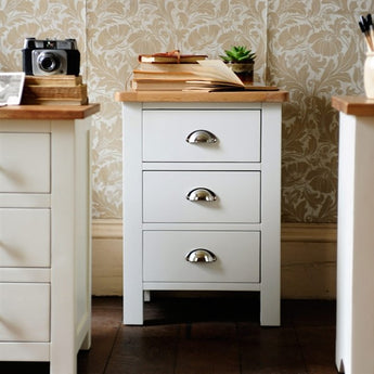 Bedside Chest 3 Drawers - Woodliving