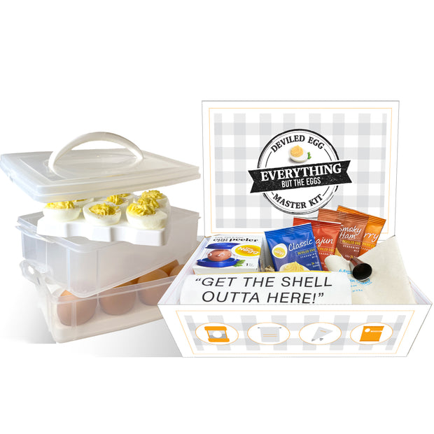 Negg Deviled Egg Master Kit with carrier