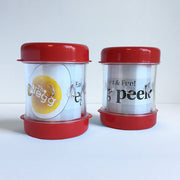 2-pack of red Neggs®- Egg Peelers. Keep one give one