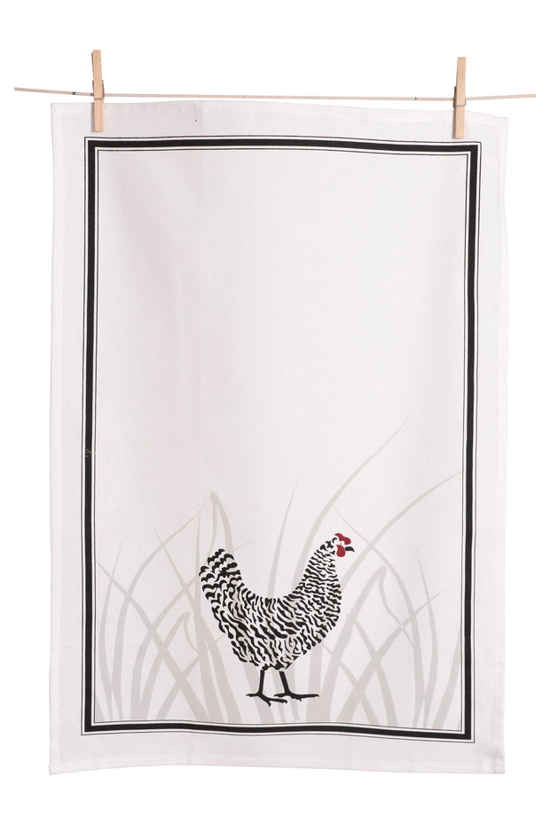 Hen Flour Sack Cotton Tea Towel