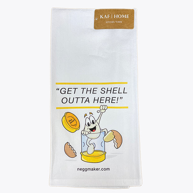 "Negg Kitchen Towel ""Get the Shell Outta Here!"""