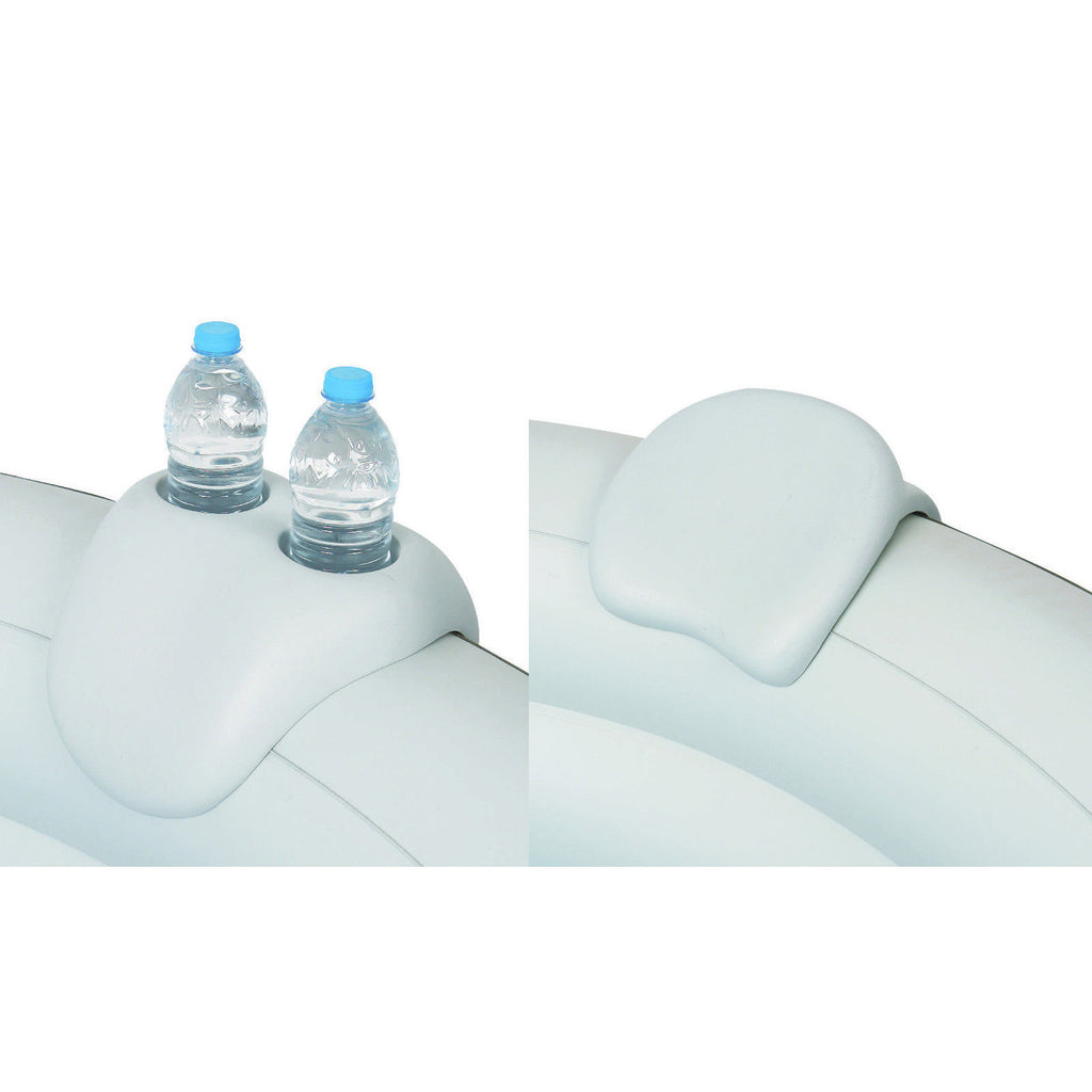 Two Headrests/Dual Cup Holders for Inflatable Portable Spas