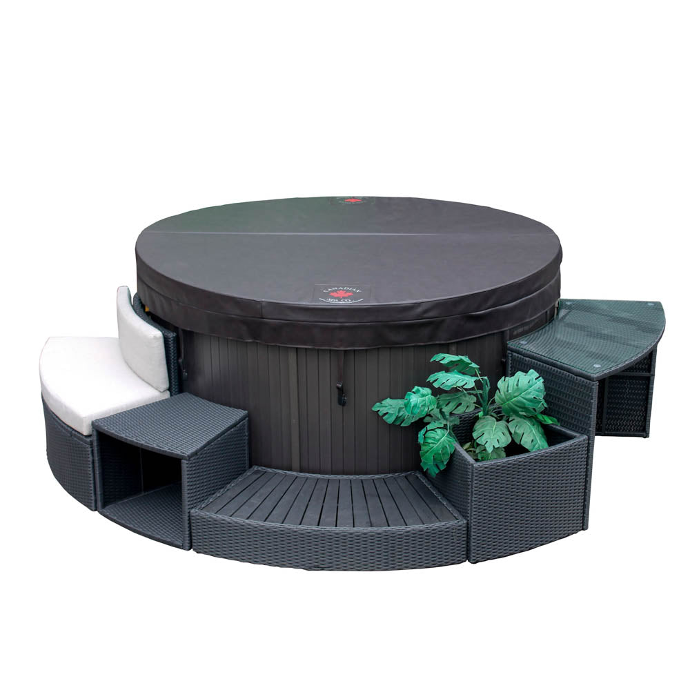 Round Spa Surround Furniture 5pc Set