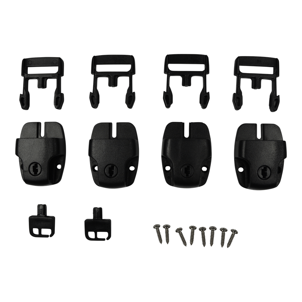 4 Replacement Locking Cover Clips Male + Female