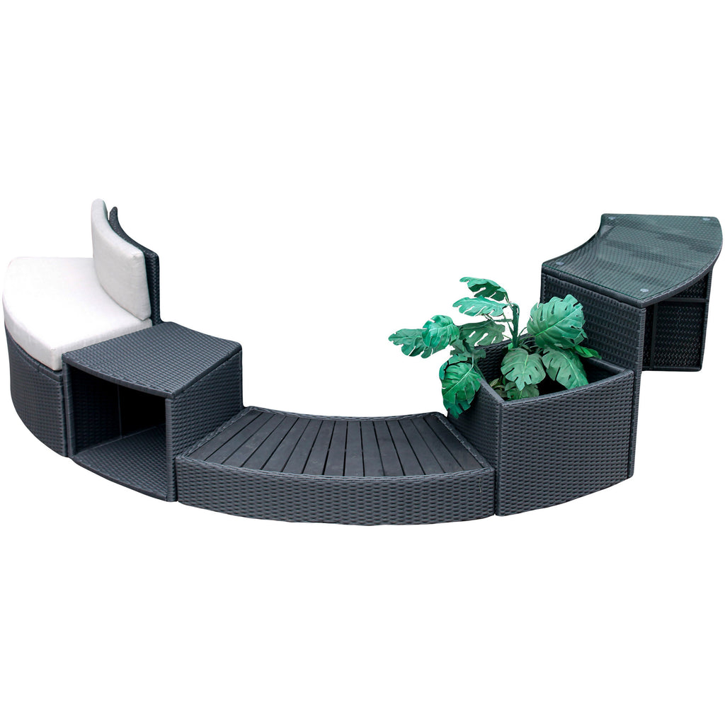 Step - Round Spa Surround Furniture