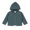Baby Hooded Cardigan | Blue Gray