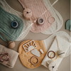 2 pk Burp Cloth | Fog + Natural
