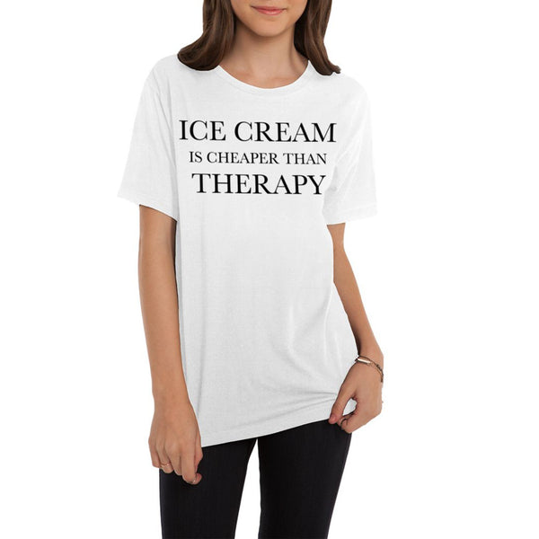 Ice Cream is Cheaper than Therapy Oversized Boyfriend Tee