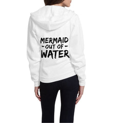 Mermaid Out of Water Flex Fleece Zip Hoodie