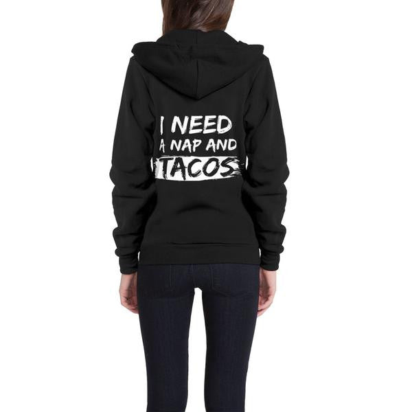 I Need a Nap and Tacos Flex Fleece Zip Hoodie