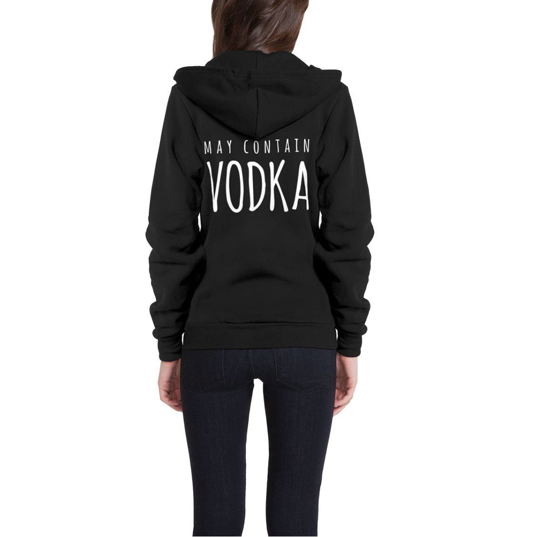 May Contain Vodka Flex Fleece Zip Hoodie