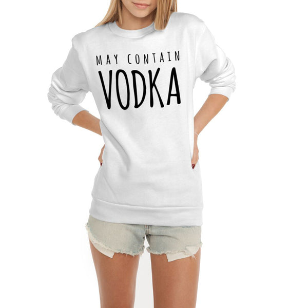 May Contain Vodka Flex Fleece Crewneck Pullover