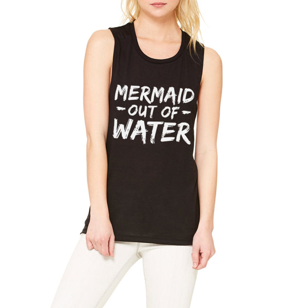 Mermaid Out of Water Muscle Tank