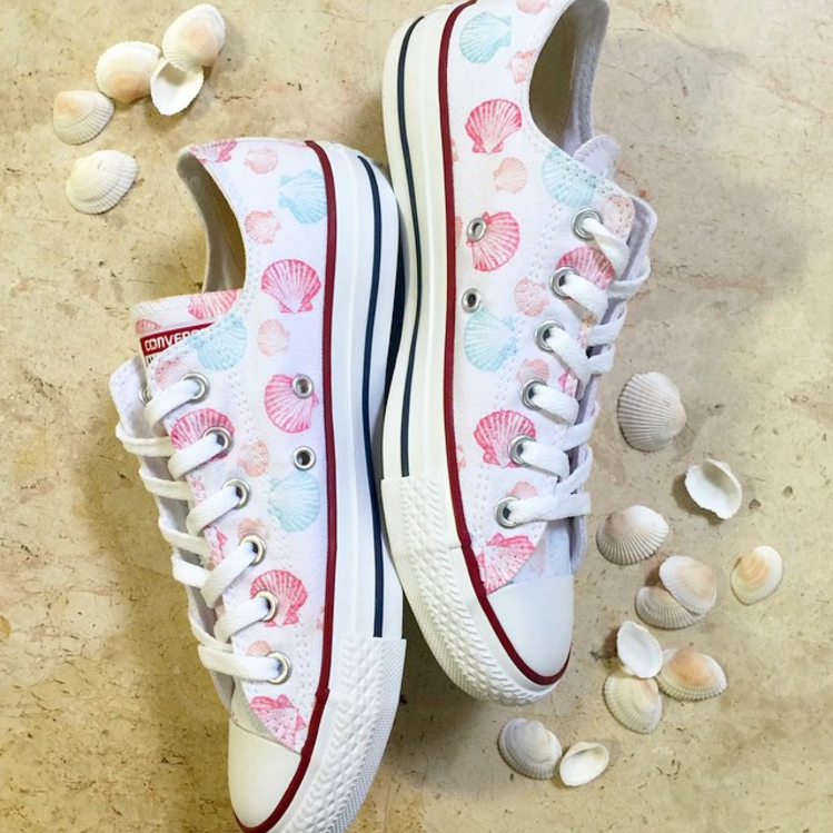 Save Our Mermaids Converse Low Top