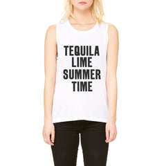 Tequila, Lime, Summer Time Muscle Tank