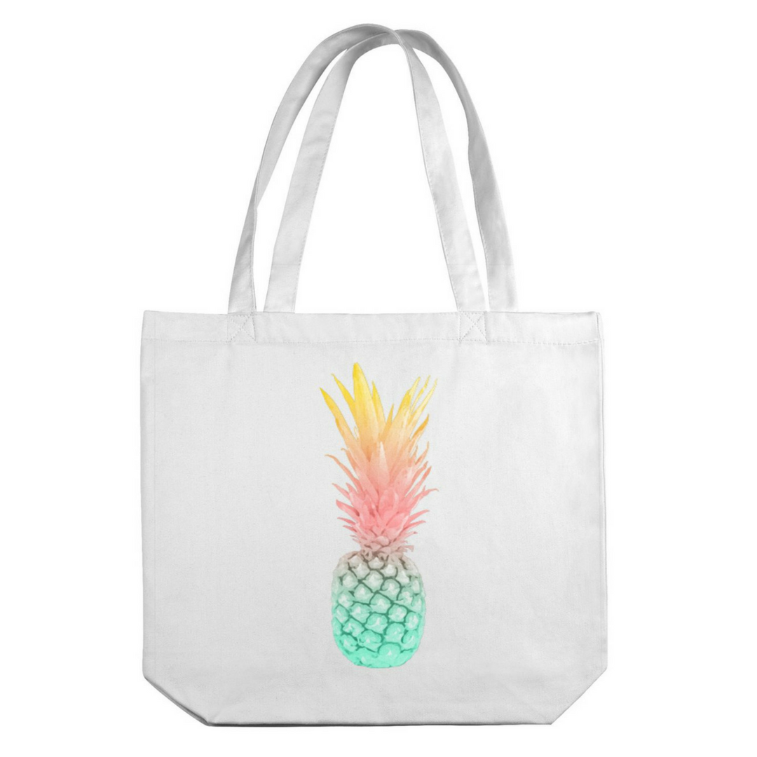 Pineapple Sunrise Canvas Tote