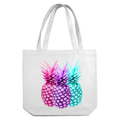 3's a Pineapple Canvas Tote