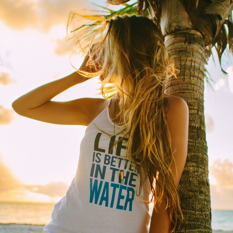 Life is Better in the Water T-Strap Tank