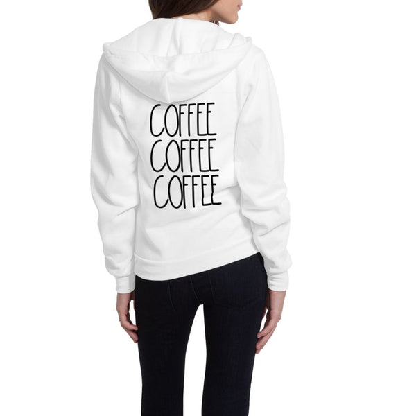 Coffee Coffee Coffee Flex Fleece Zip Hoodie