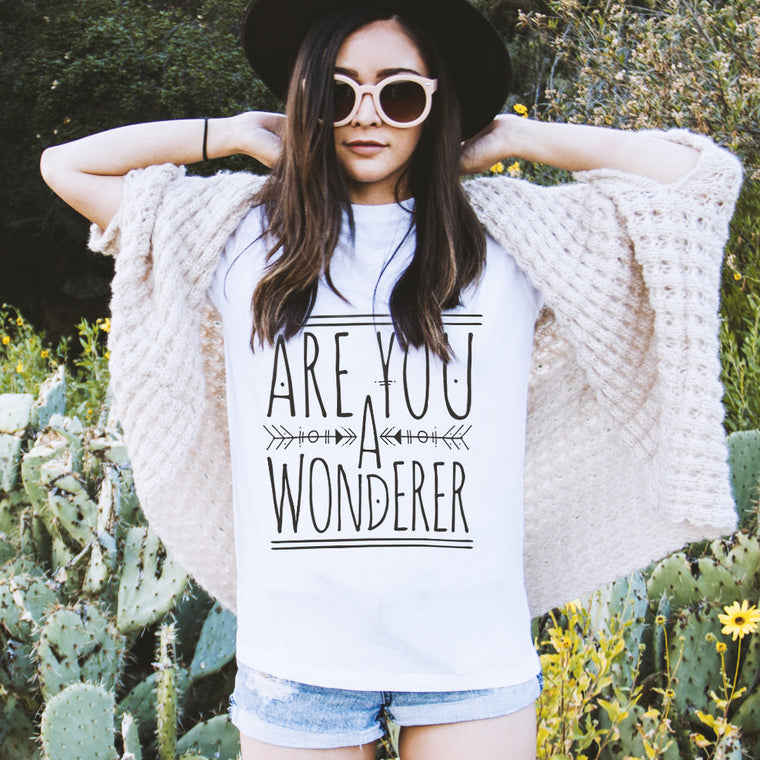 Are You A Wonderer Oversized Boyfriend Tee