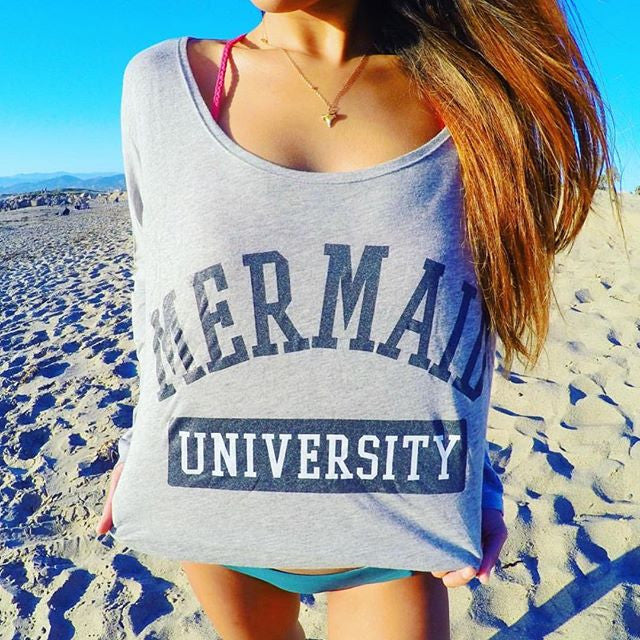 Mermaid University Scoop Hi-Lo Long Sleeve Tee