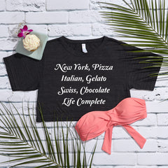 Life's Essentials Tri-Blend Short Sleeve Crop Top