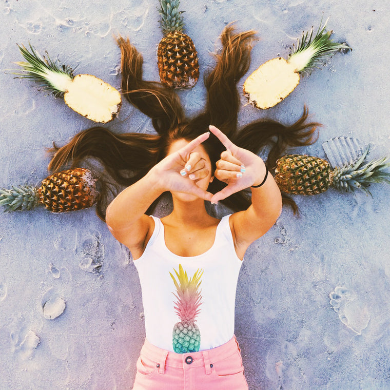 Pineapple Sunrise Baby Crop Tank