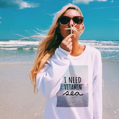 I Need Vitamin Sea Flex Fleece Crewneck Pullover