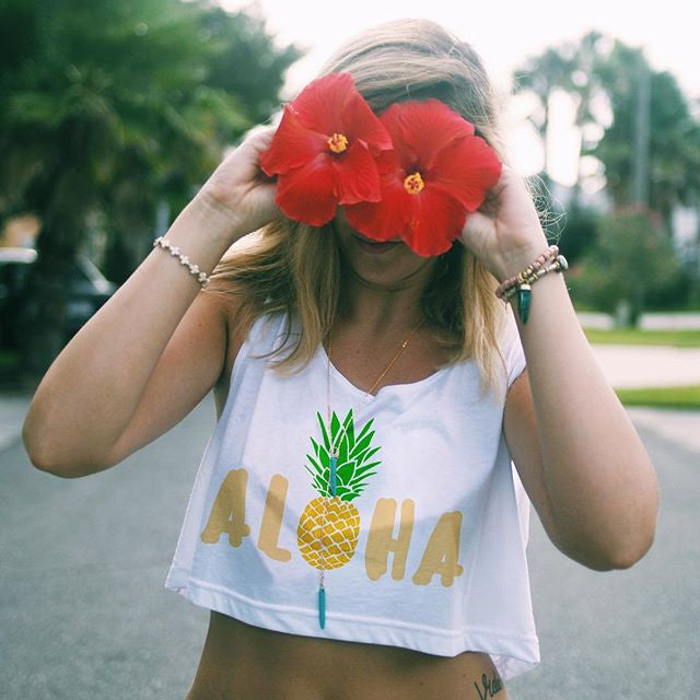 Aloha Loose Crop Top