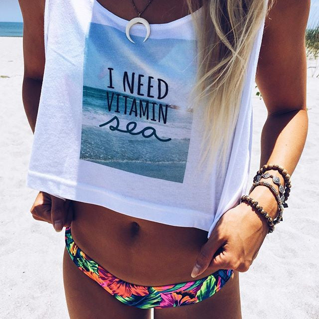 I Need Vitamin Sea Loose Crop Top