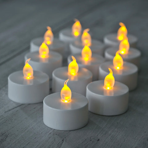 12x LED Flickering Candle Battery Powered Eid / Ramadan Fairy Lights