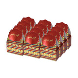 Eid/Ramadan Gift & Treat Celebration Boxes - Red/Gold Stripe Design (12 Pack)
