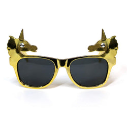 Gold Unicorn Novelty Fancy Dress Glasses
