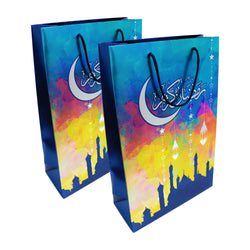 Pack of 2 Long Blue Ramadan Kareem Gift Bags