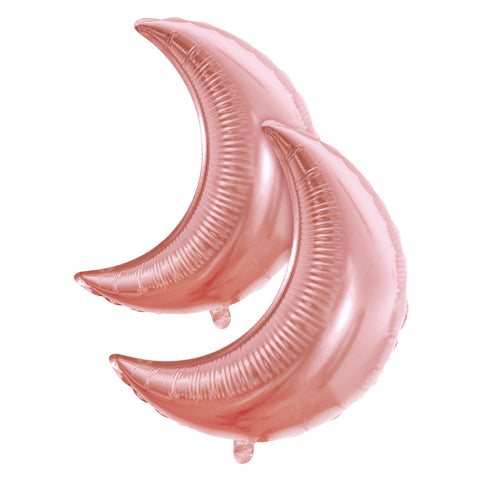 Pack of 2 Rose Gold Crescent Moon Eid & Ramadan Foil Balloon (45cm)