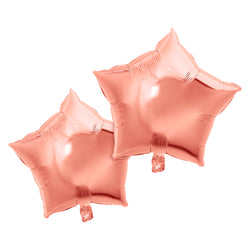 Pack of 2 Rose Gold Star Eid & Ramadan Foil Balloon (45cm)