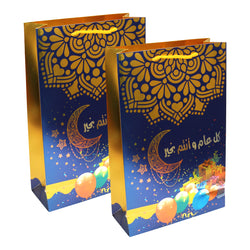 Pack of 2 Tall Blue Eid / Ramadan Lantern Gift Bags