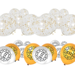 Gold & Silver Geo Balloon & Gold Confetti Balloon Decoration Set