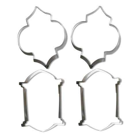 Pack Of 4 Lantern Cookie / Biscuit Cutters - 2 x Fez + 2 x Midnight Lanterns