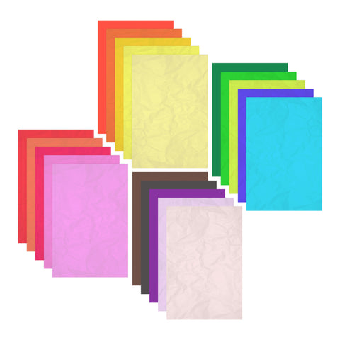 40 Sheets of Coated Multicolour Tissue Paper - 75 x 50cm