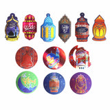 Eid Mubarak Circle Disc Hanging Mobile Decoration (Pack of 2)
