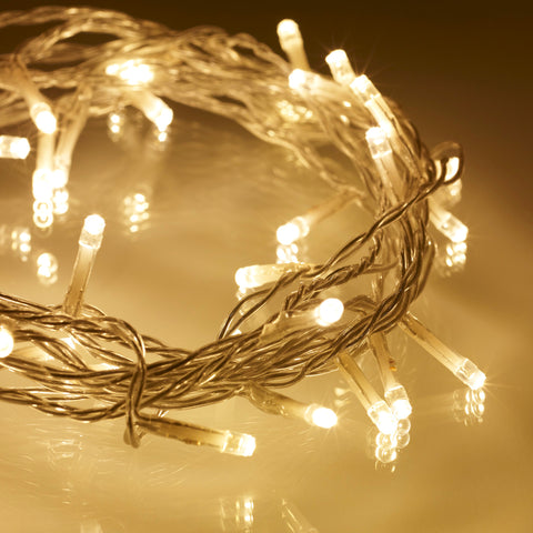 50 Warm White LED Fairy Lights