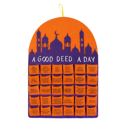 'A Good Deed A Day' Felt Ramadan Calendar - Orange / Purple