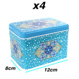 5 in 1 Eid Mubarak Cake & Gift Tin Set - Blue Crescent Moon & Star Design