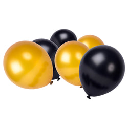 Black & Gold Latex Ramadan & Eid Party Balloons (50 Pack)