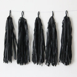 Black Paper Hanging Tassels Eid & Ramadan Decoration
