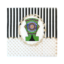 Green Lantern Striped Eid Party Napkins (20 Pack)