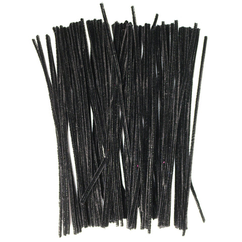 Pack of 100 Black Eid Arts & Craft Pipe Cleaners